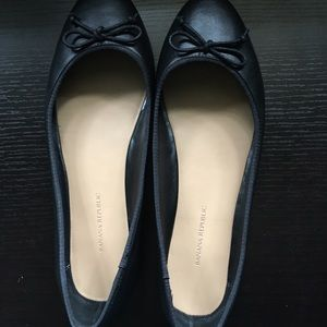 Banana republic. Black ballet flats. Worn once